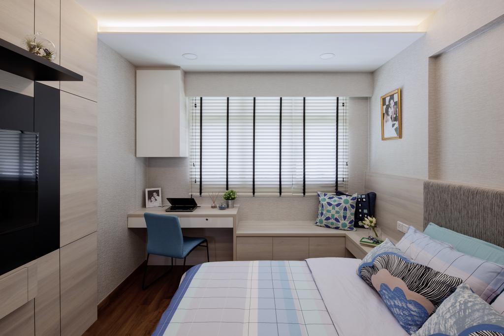 Modern, HDB, Bedroom, Keat Hong Link, Interior Designer, Weiken.com, Couch, Furniture, Indoors, Room