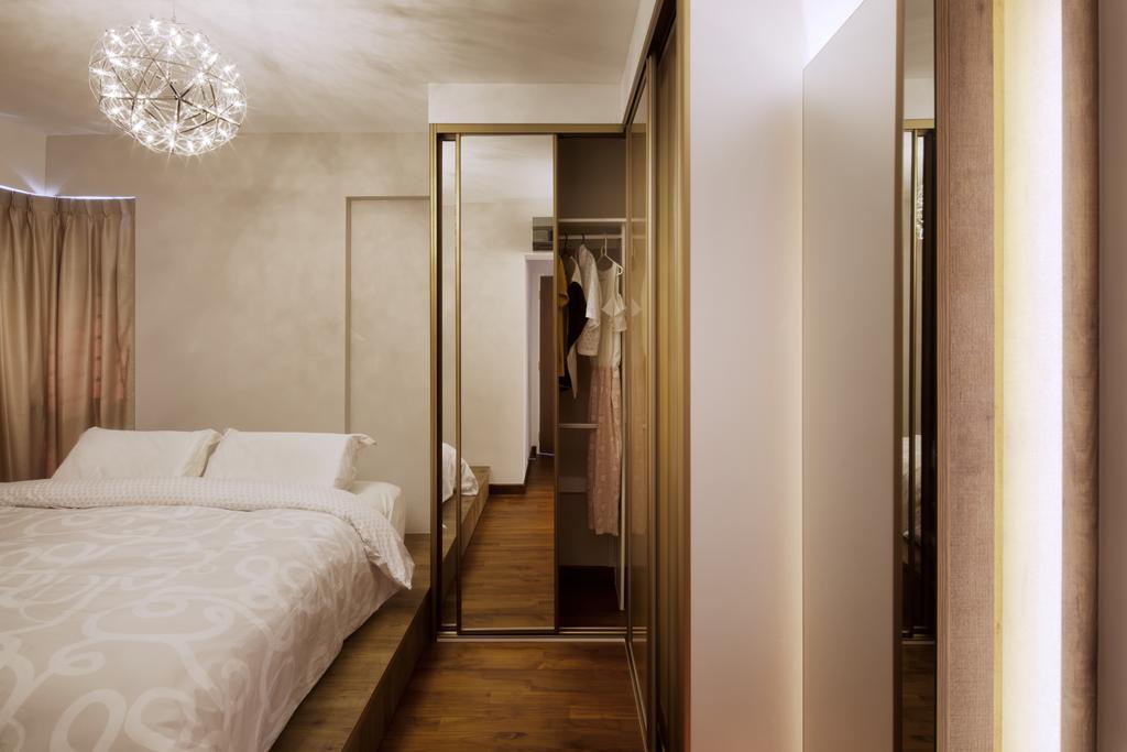 Modern, HDB, Bedroom, Upper Serangoon View, Interior Designer, Weiken.com, Bed, Furniture, Indoors, Interior Design, Room