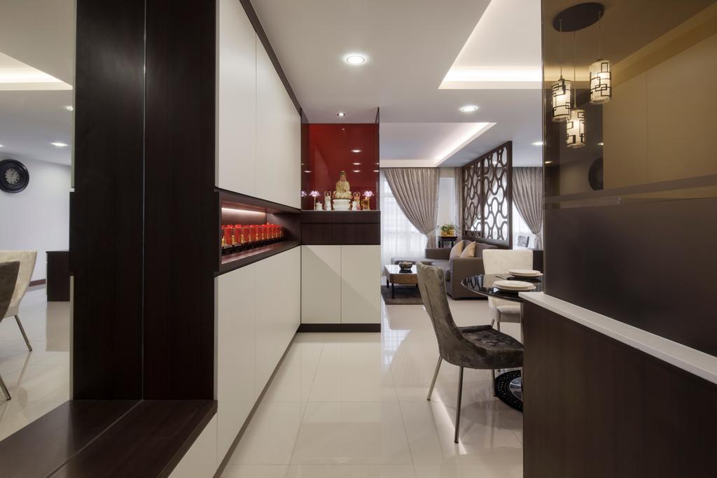 Modern, Condo, Living Room, Fajar Road, Interior Designer, Weiken.com, Dining Table, Furniture, Table, Chair