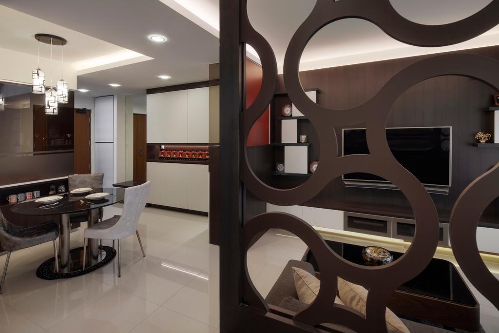 Modern, Condo, Dining Room, Fajar Road, Interior Designer, Weiken.com, Chair, Furniture, Dining Table, Table