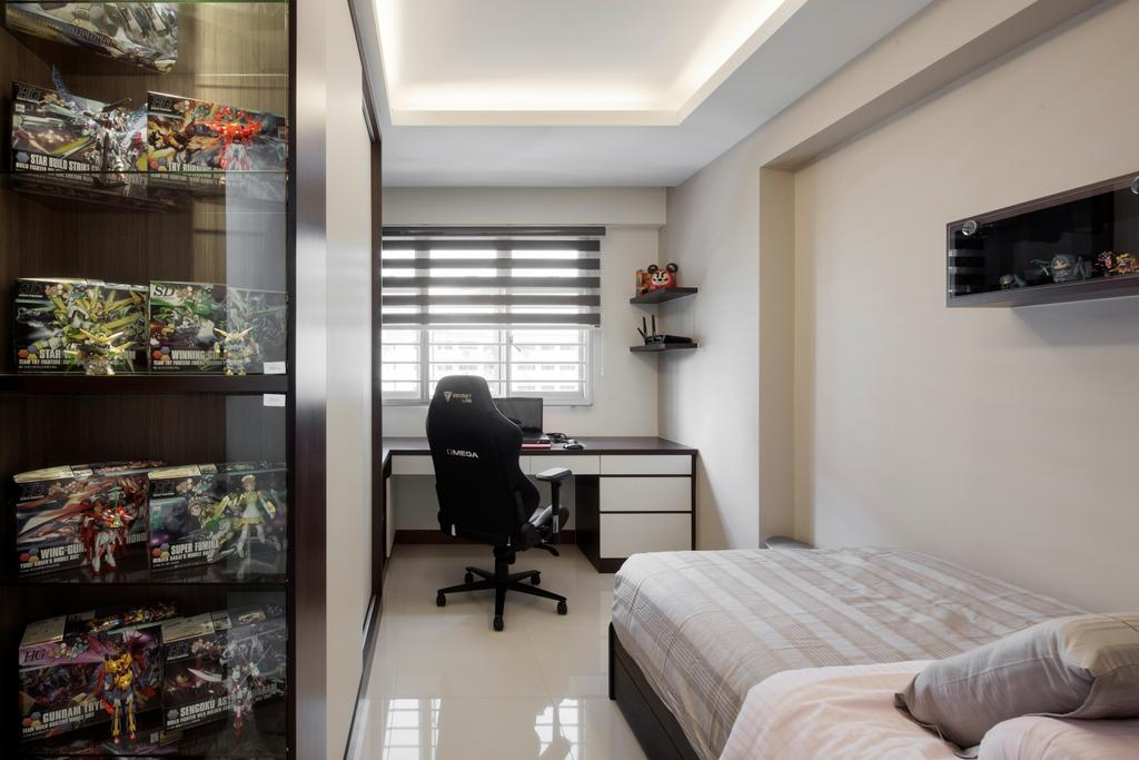 Modern, Condo, Bedroom, Fajar Road, Interior Designer, Weiken.com, Bed, Furniture, Chair