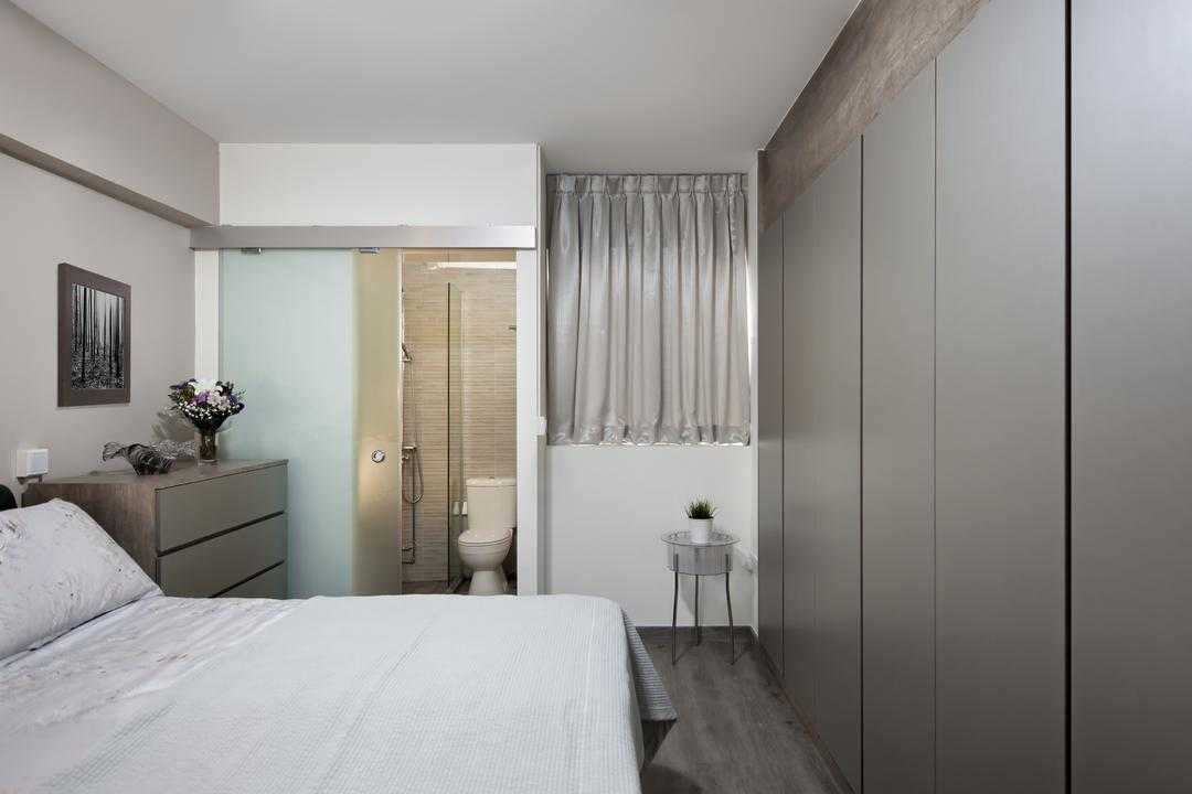 Clementi (Block 358), Weiken.com, Transitional, Bedroom, HDB, Curtain, Home Decor, Shower Curtain, Indoors, Interior Design, Room