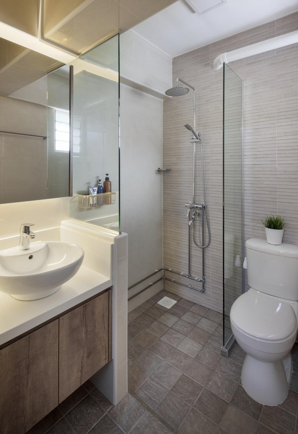 Transitional, HDB, Bathroom, Clementi (Block 358), Interior Designer, Weiken.com, Indoors, Interior Design, Room