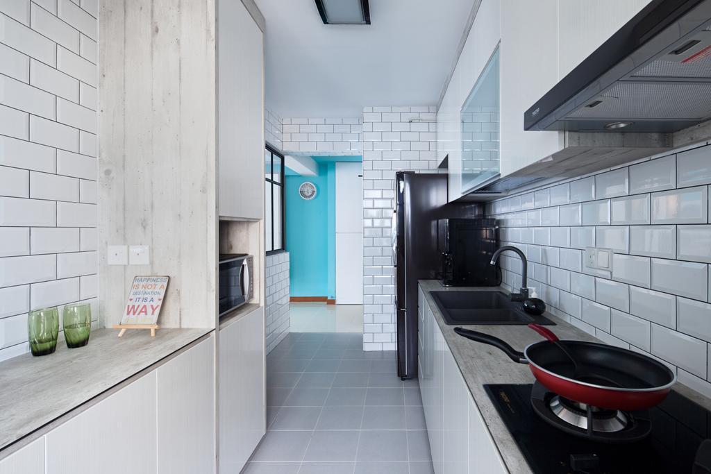 HDB, Segar Road, Interior Designer, Weiken.com, Glass, Bathroom, Indoors, Interior Design, Room