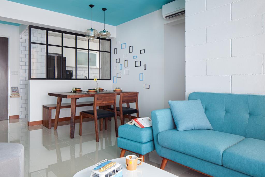 HDB, Segar Road, Interior Designer, Weiken.com, Couch, Furniture, Dining Table, Table, Indoors, Interior Design, Chair