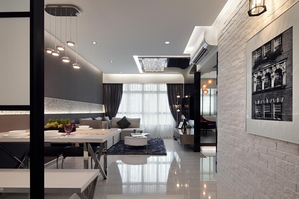 HDB, Living Room, Sumang Link, Interior Designer, Weiken.com, Dining Table, Furniture, Table, Dining Room, Indoors, Interior Design, Room, Sink, Building, Housing, Loft