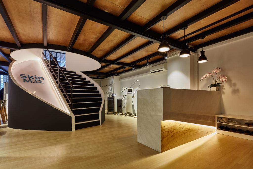 Skin M.D., Commercial, Interior Designer, Edge Interior, Modern, Flooring, Plywood, Wood, Indoors, Interior Design