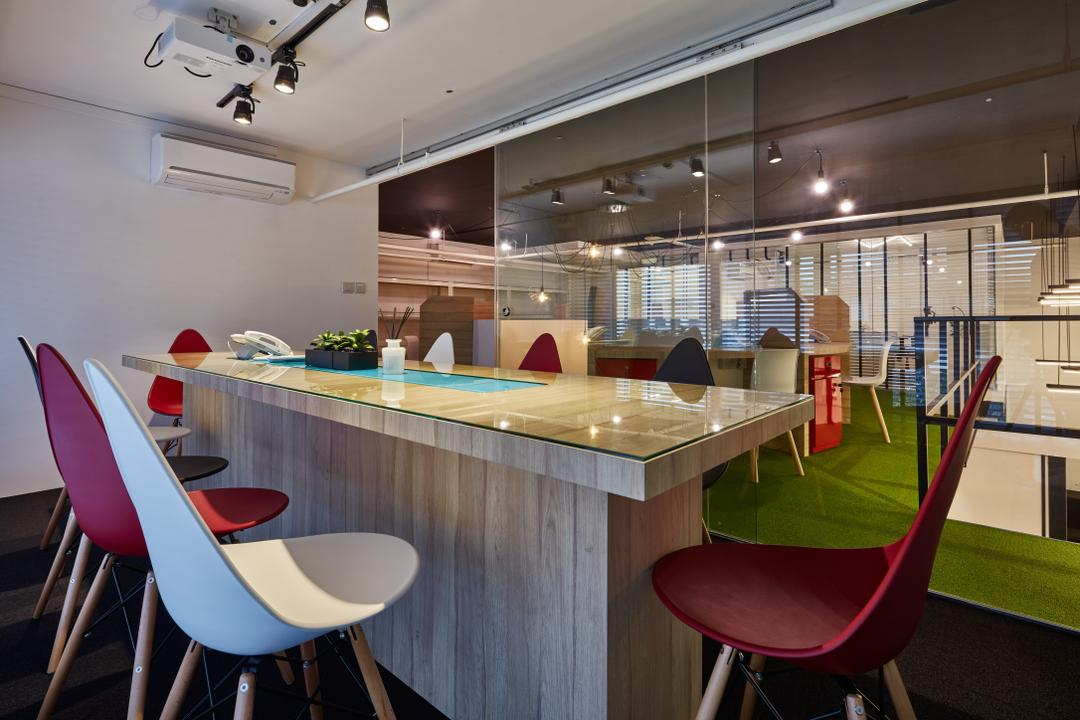 Skin M.D., Edge Interior, Modern, Commercial, Chair, Furniture, Conference Room, Indoors, Meeting Room, Room, Playground, Dining Table, Table, Reception
