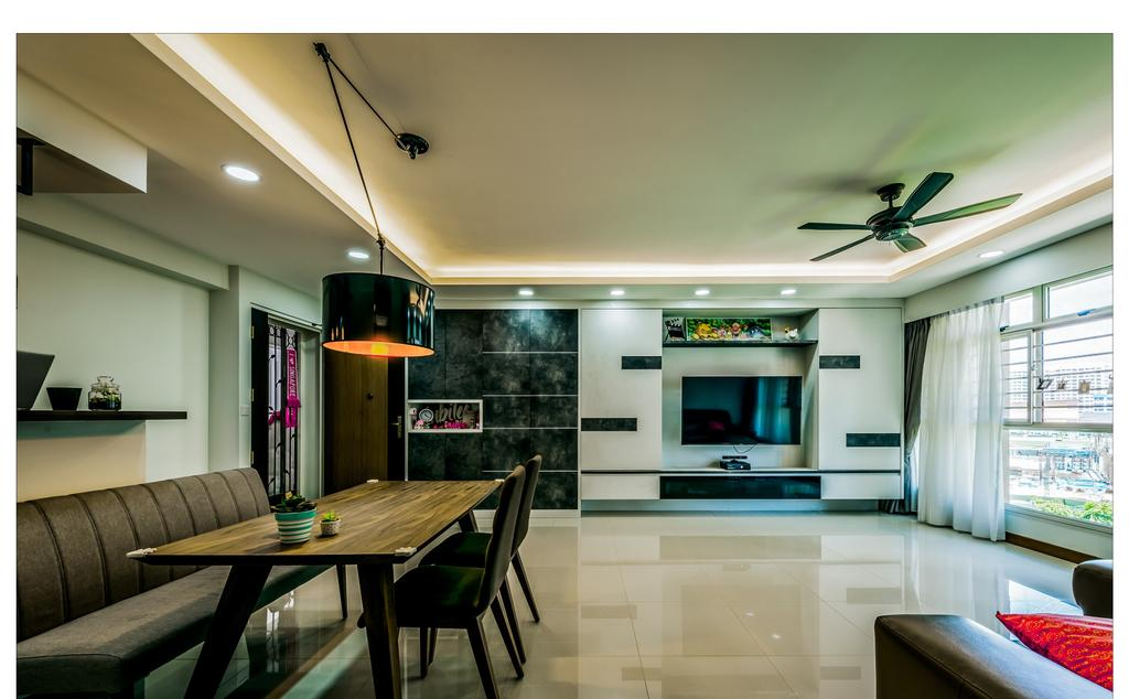 Contemporary, HDB, Dining Room, Punggol Waterway, Interior Designer, Faith Interior Design