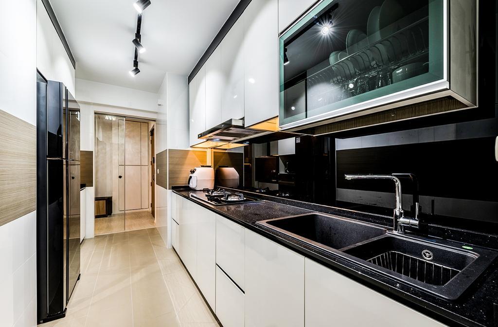 Contemporary, HDB, Kitchen, Sengkang, Interior Designer, Faith Interior Design