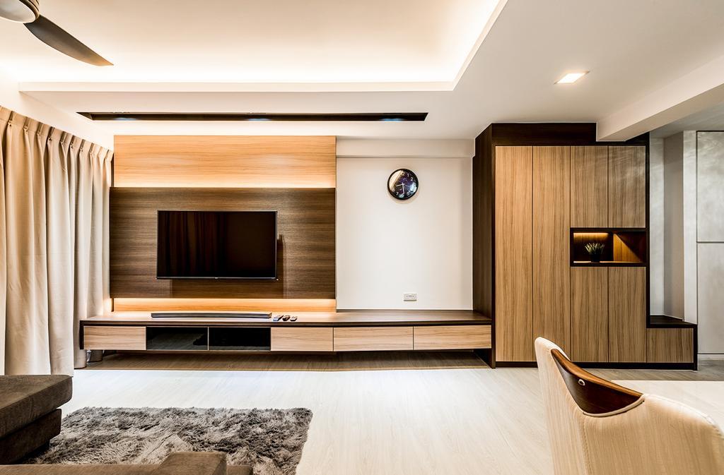 Contemporary, HDB, Living Room, Sengkang, Interior Designer, Faith Interior Design