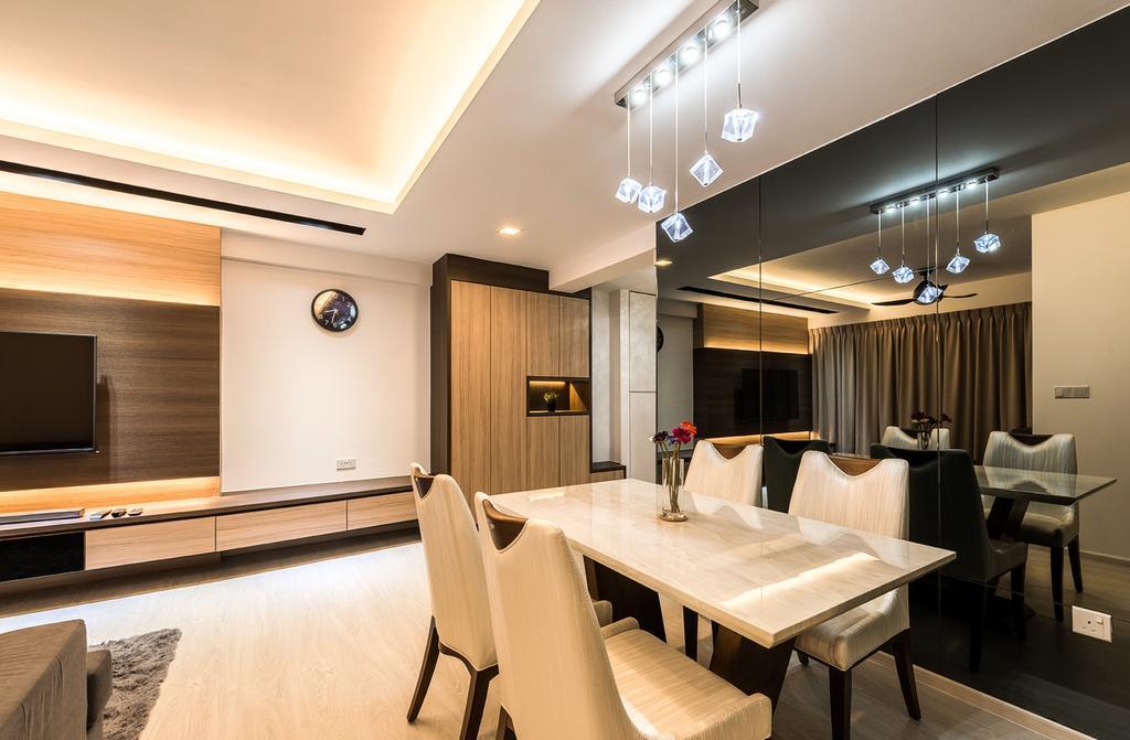 Contemporary, HDB, Dining Room, Sengkang, Interior Designer, Faith Interior Design