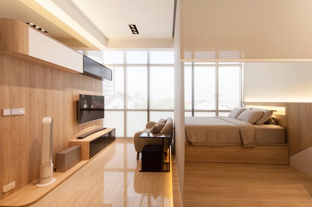 Modern, Condo, Living Room, Stratum, Interior Designer, Space Atelier, Scandinavian, Indoors, Interior Design, Flooring, Furniture
