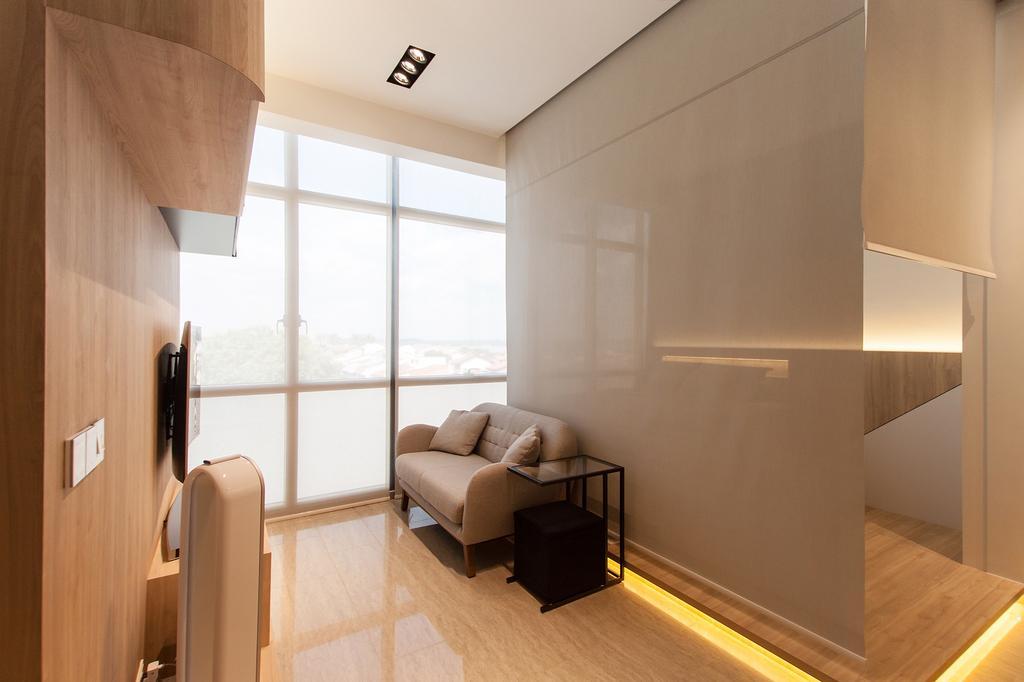 Modern, Condo, Living Room, Stratum, Interior Designer, Space Atelier, Scandinavian, Indoors, Interior Design, Couch, Furniture