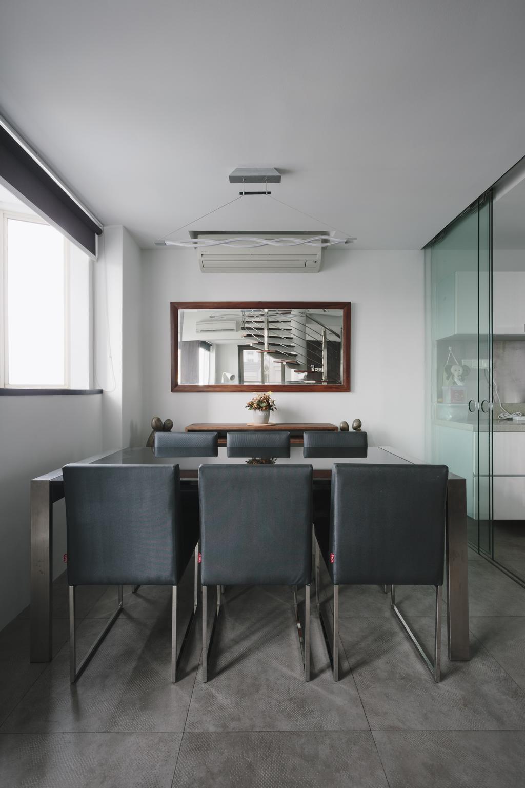 Modern, Condo, Dining Room, Palazzetto, Interior Designer, Schemacraft, Contemporary, Indoors, Interior Design, Room, Aluminium