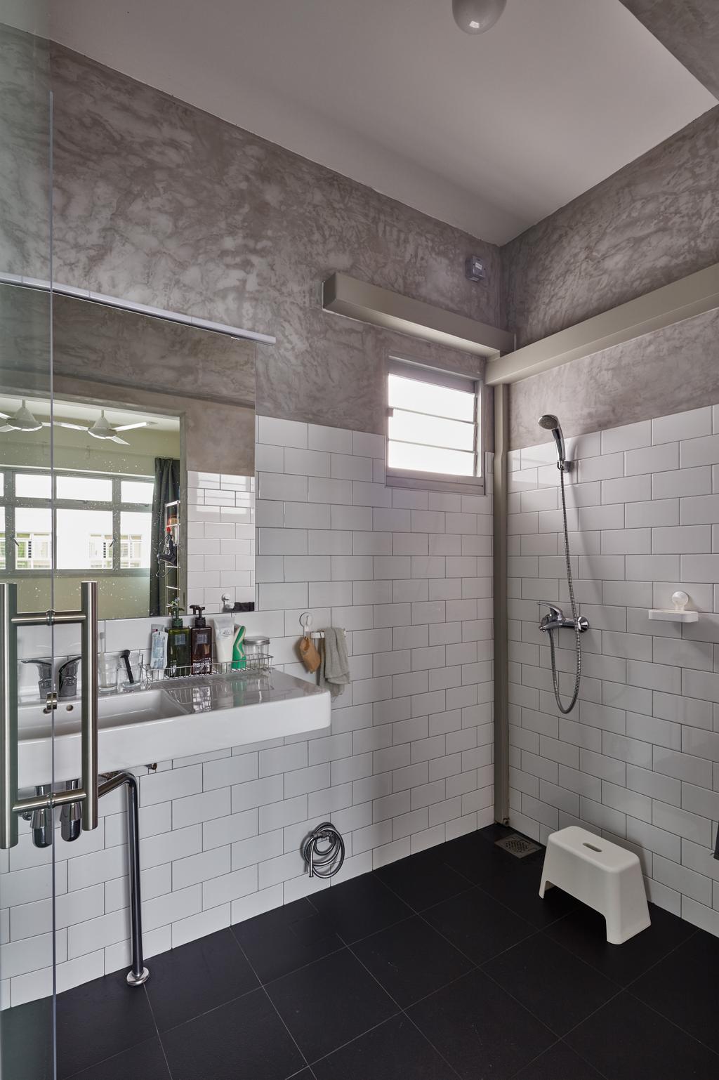 Industrial, HDB, Bathroom, Oleander Breeze, Interior Designer, Voila, Indoors, Interior Design, Room