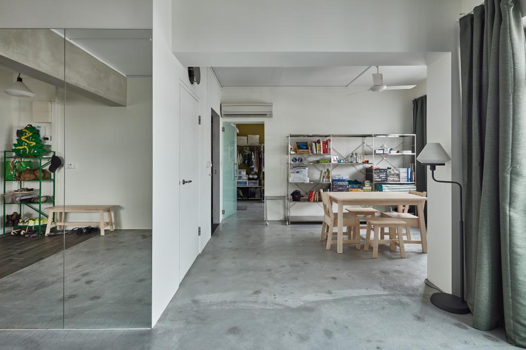 Industrial, HDB, Living Room, Oleander Breeze, Interior Designer, Voila, Dining Table, Furniture, Table