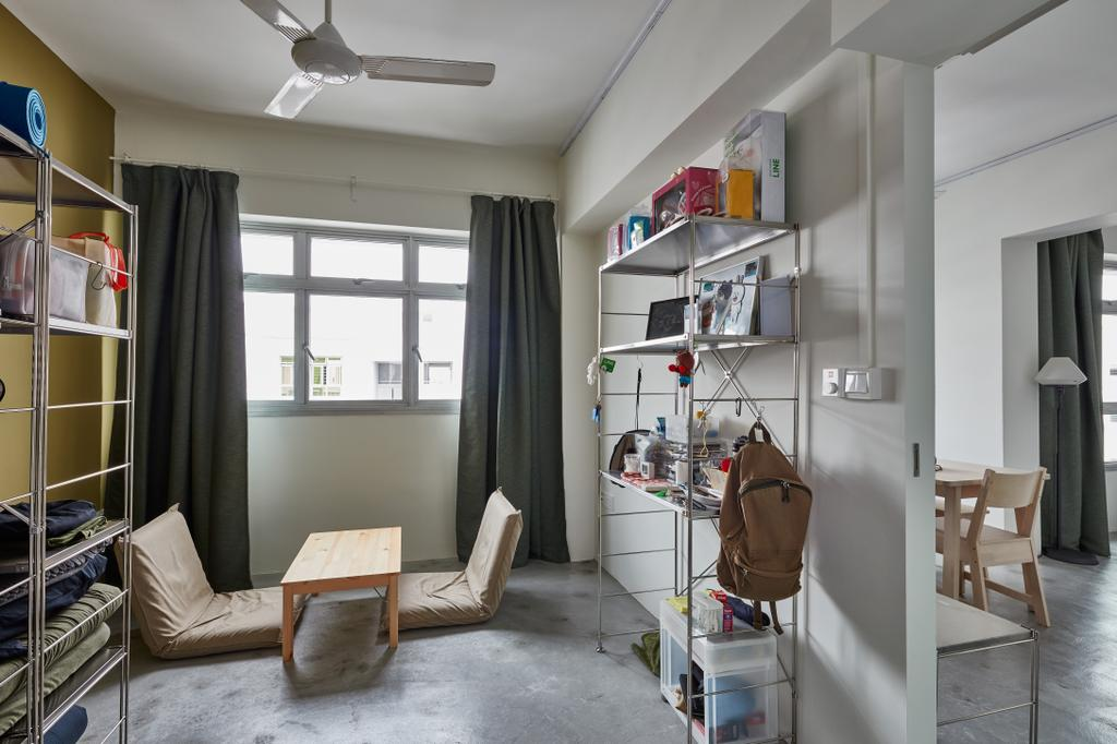 Industrial, HDB, Bedroom, Oleander Breeze, Interior Designer, Voila, Human, People, Person, Building, Hostel, Housing, Chair, Furniture