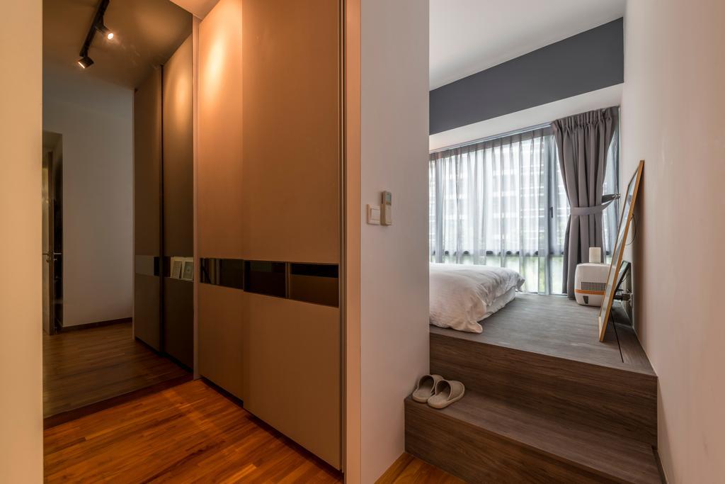 Modern, Condo, Bedroom, The Palette, Interior Designer, Superhome Design, Industrial, Floor, Flooring