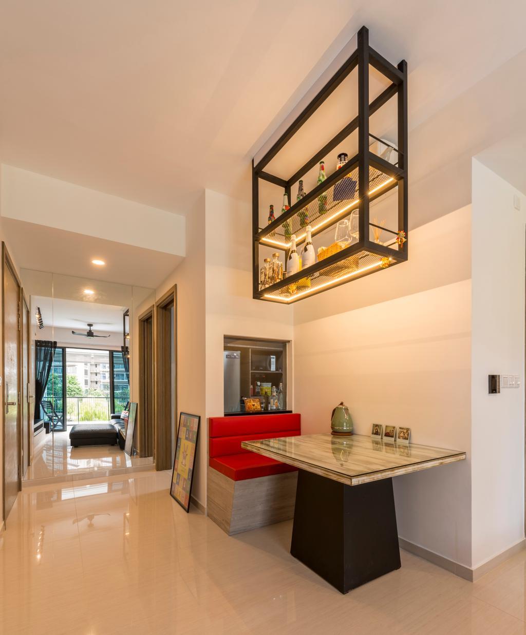 Modern, Condo, Dining Room, The Palette, Interior Designer, Superhome Design, Industrial, Shelf, Indoors, Interior Design, Room, Couch, Furniture