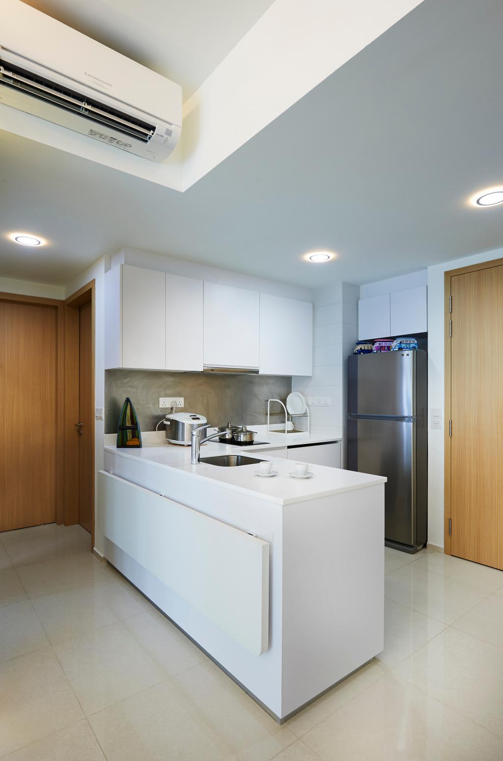 Modern, Condo, Kitchen, Ripple Bay (Block 6), Interior Designer, AC Vision Design, Scandinavian