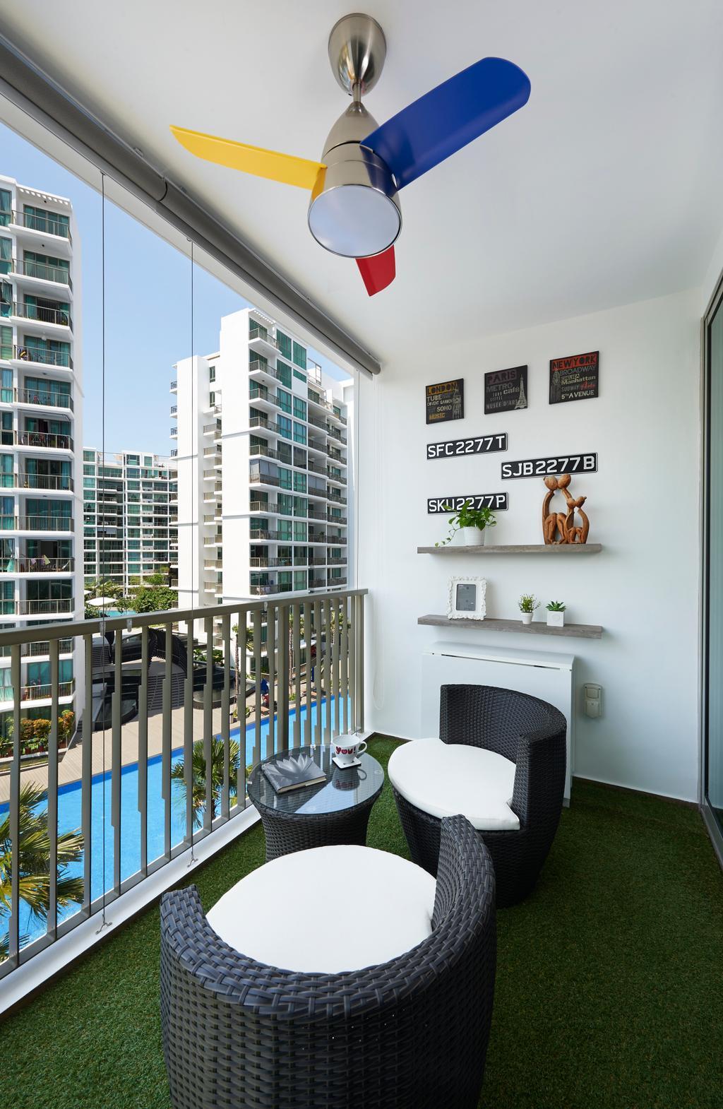 Modern, Condo, Balcony, Pasir Ris Link (Block 12), Interior Designer, AC Vision Design