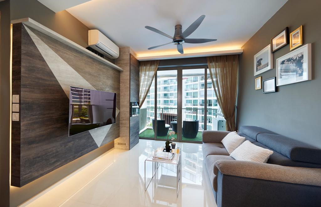 Modern, Condo, Living Room, Pasir Ris Link (Block 12), Interior Designer, AC Vision Design