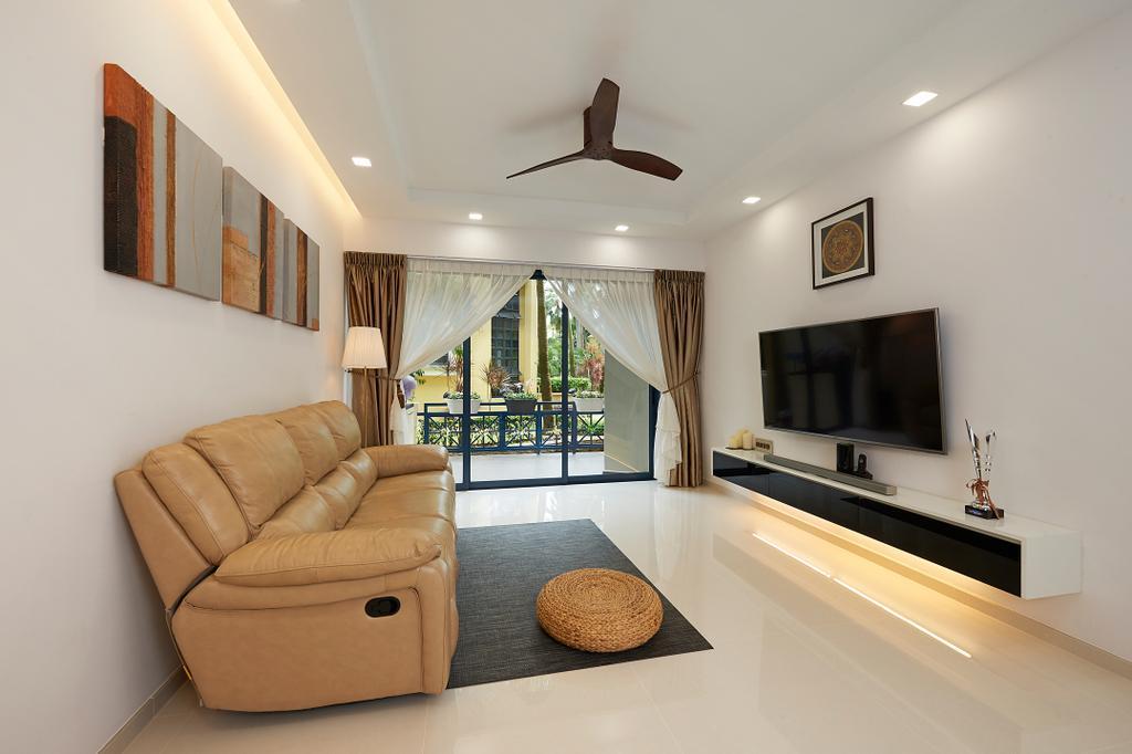 Modern, Condo, Living Room, West Cove, Interior Designer, AC Vision Design