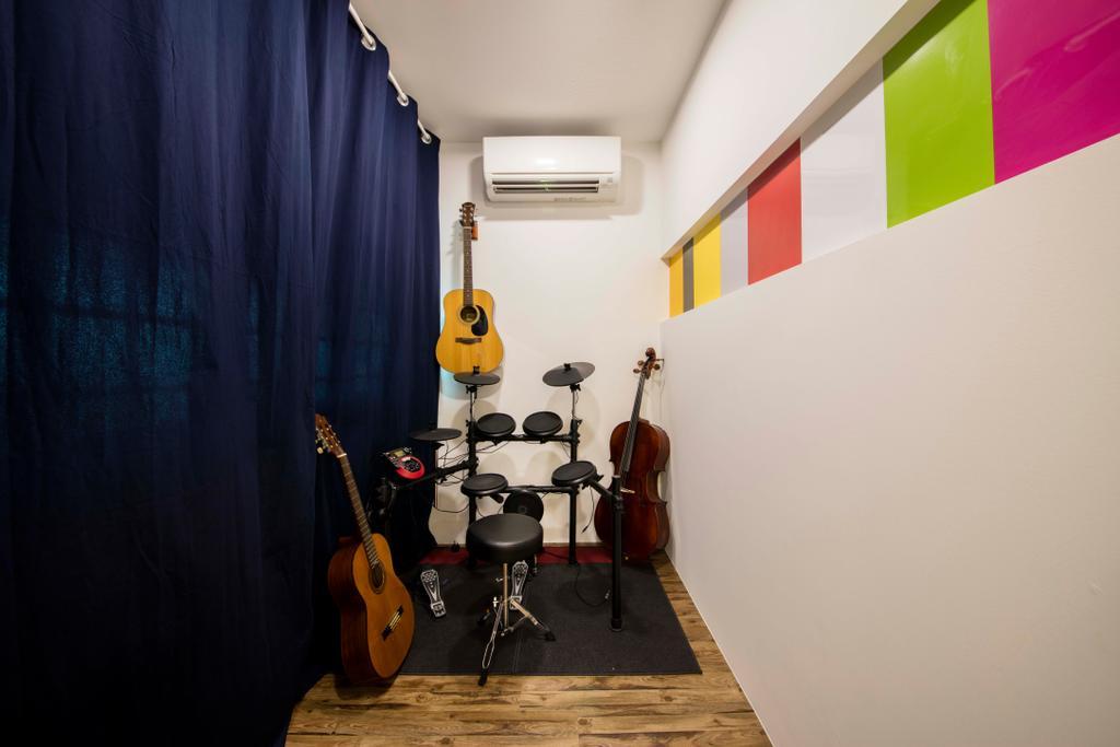 Eclectic, HDB, Study, Simei Street 1, Interior Designer, Starry Homestead, Cello, Leisure Activities, Music, Musical Instrument