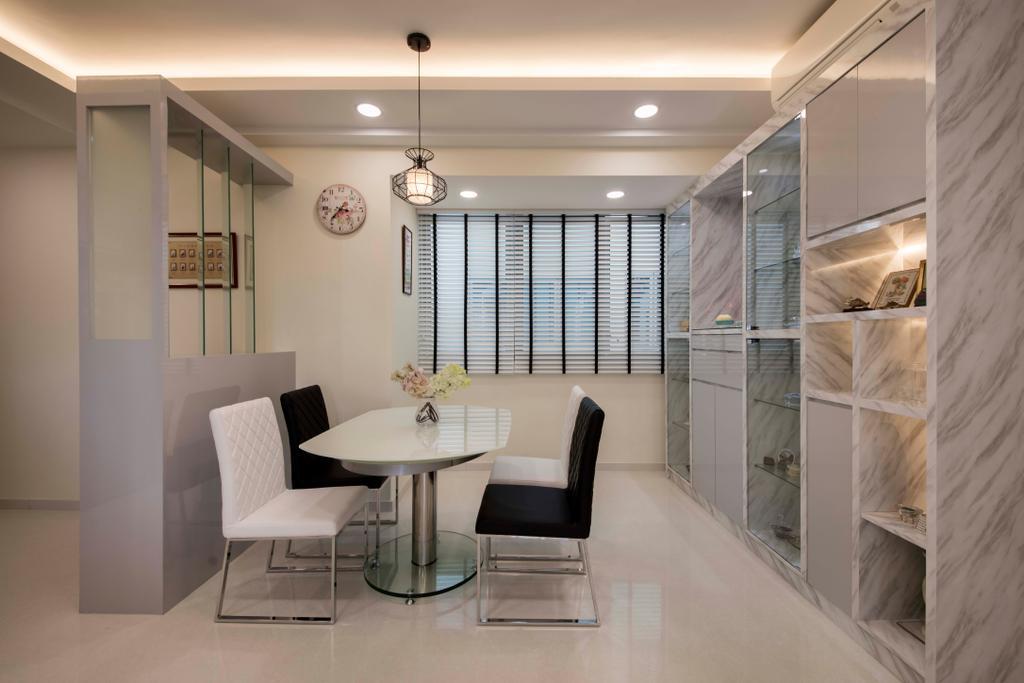Modern, Condo, Dining Room, Q Bay Residence, Interior Designer, Starry Homestead, Dining Table, Furniture, Table, Indoors, Interior Design, Room