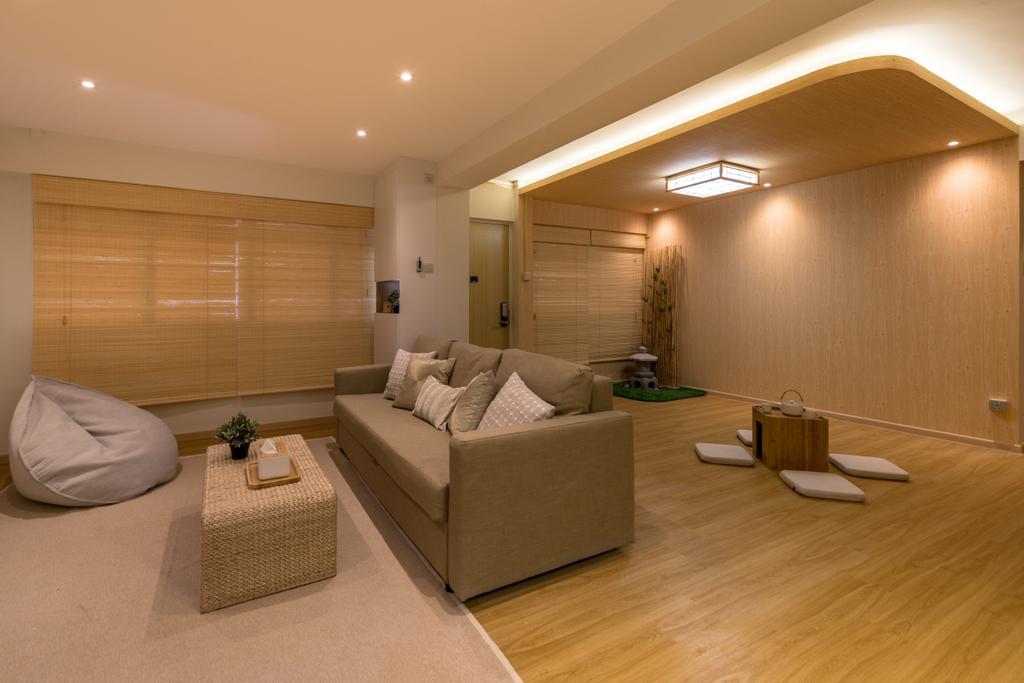 Minimalistic, HDB, Living Room, Yung Loh, Interior Designer, Mr Shopper Studio, Couch, Furniture, Indoors, Interior Design, Flooring