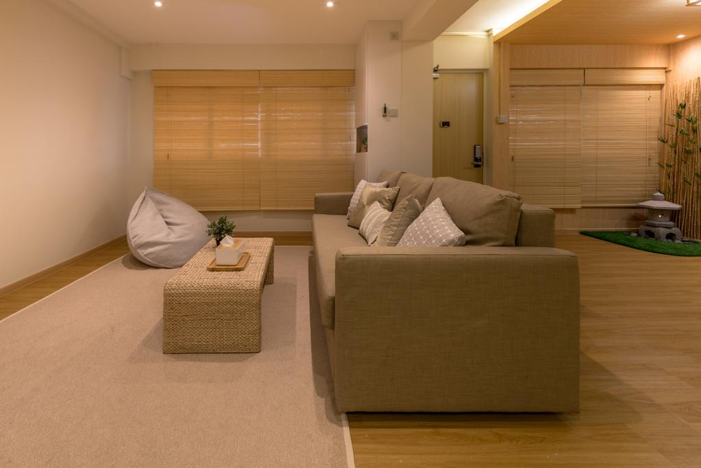 Minimalistic, HDB, Living Room, Yung Loh, Interior Designer, Mr Shopper Studio, Couch, Furniture