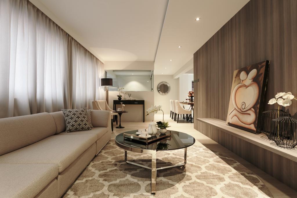 Modern, HDB, Living Room, McNair Road, Interior Designer, Mr Shopper Studio, Contemporary, Indoors, Interior Design, Flooring, Room, Chair, Furniture