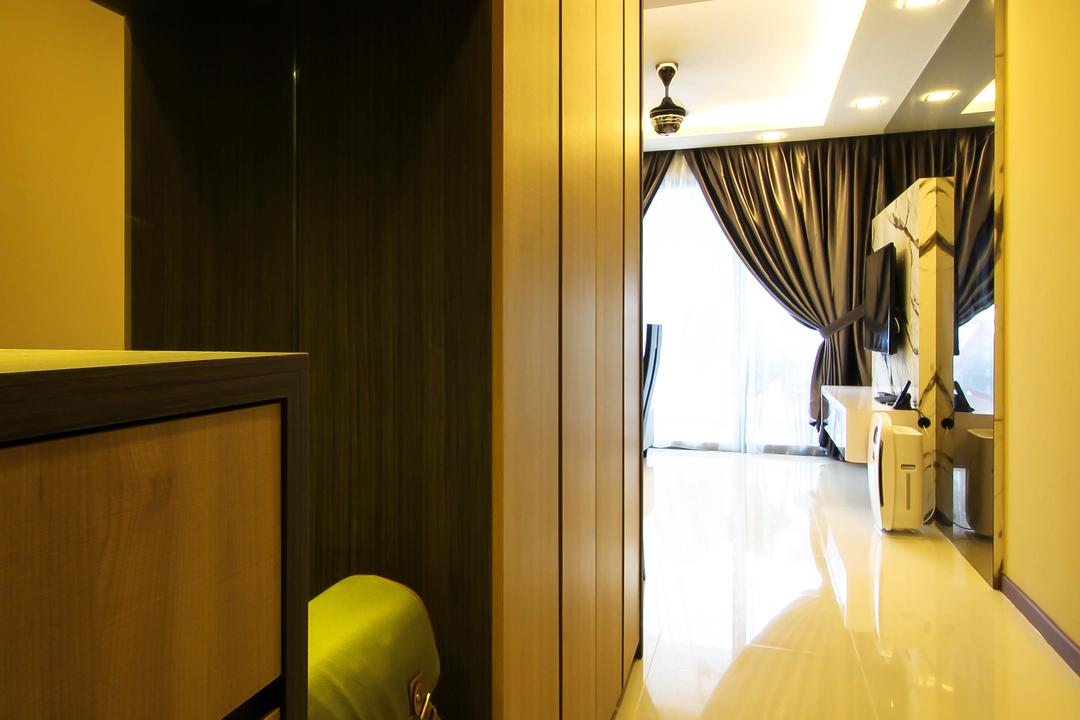 Pasir Ris Drive One, Fifth Avenue Interior, Contemporary, Living Room, HDB, Passage Way Design, Passage Way, Simple Passage Way, Corridor, Corridor Cabinets, Shoe Cabinets, Entrance Cabinets, Walkway, Indoors, Interior Design, Room, Building, Housing, Bedroom
