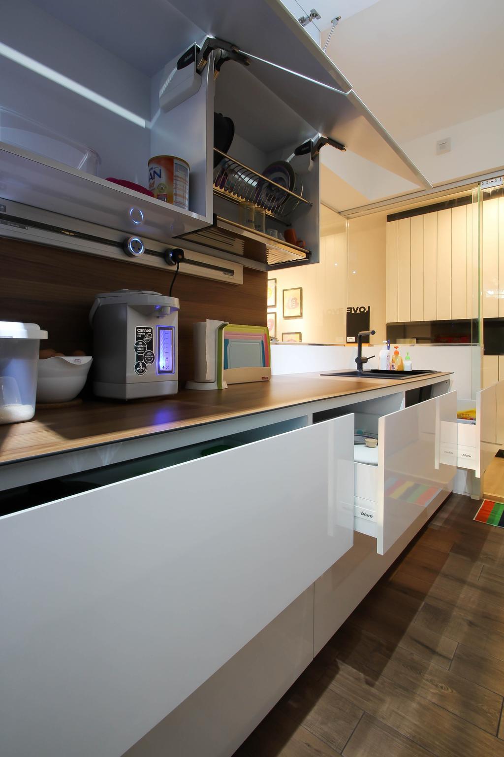 Scandinavian, HDB, Kitchen, Punggol, Interior Designer, Fifth Avenue Interior, Kitchen Cabinets, Kitchen Cabinets Drawers, Cabinet Drawers, Kitchen Drawers, Kitchen Carpentry, Kitchen Furnishing