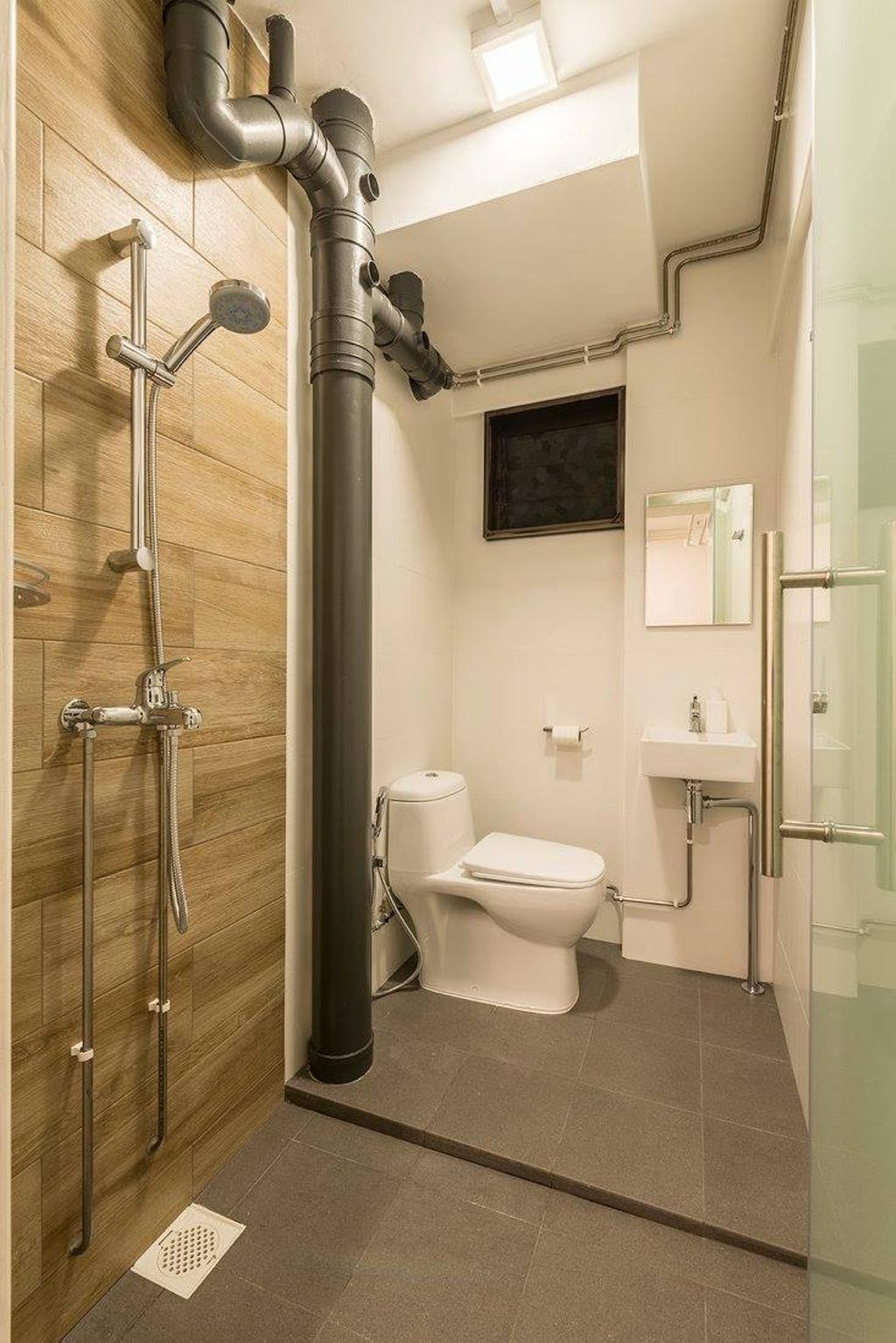 Minimalistic, HDB, Potong Pasir, Interior Designer, Ace Space Design, Contemporary, Modern, Bathroom, Indoors, Interior Design, Room