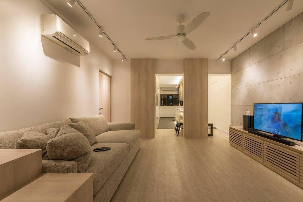 Minimalistic, HDB, Living Room, Potong Pasir, Interior Designer, Ace Space Design, Contemporary, Modern, Couch, Furniture, Indoors, Interior Design