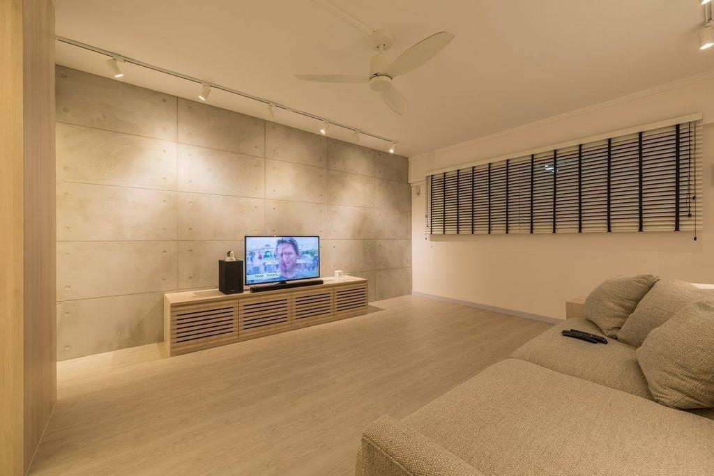 Minimalistic, HDB, Living Room, Potong Pasir, Interior Designer, Ace Space Design, Contemporary, Modern