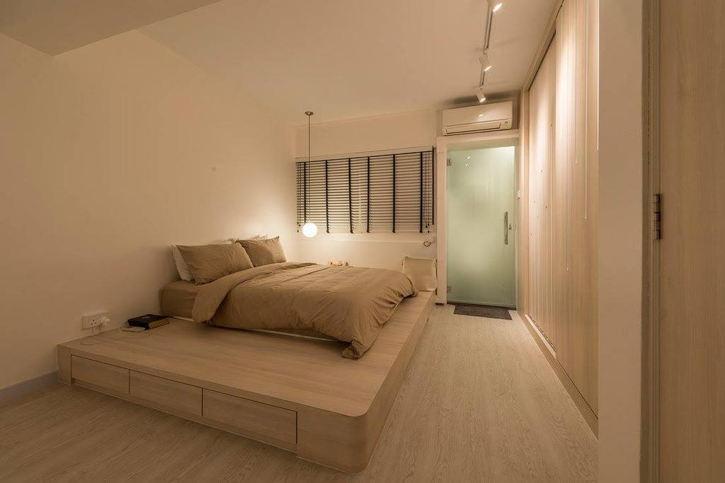 Minimalistic, HDB, Bedroom, Potong Pasir, Interior Designer, Ace Space Design, Contemporary, Modern, Couch, Furniture, Molding, Corridor, Indoors, Interior Design, Room