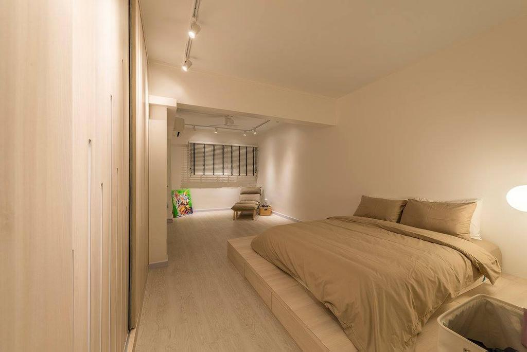 Minimalistic, HDB, Bedroom, Potong Pasir, Interior Designer, Ace Space Design, Contemporary, Modern, Indoors, Interior Design, Room