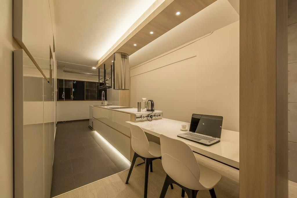 Minimalistic, HDB, Kitchen, Potong Pasir, Interior Designer, Ace Space Design, Contemporary, Modern, Chair, Furniture