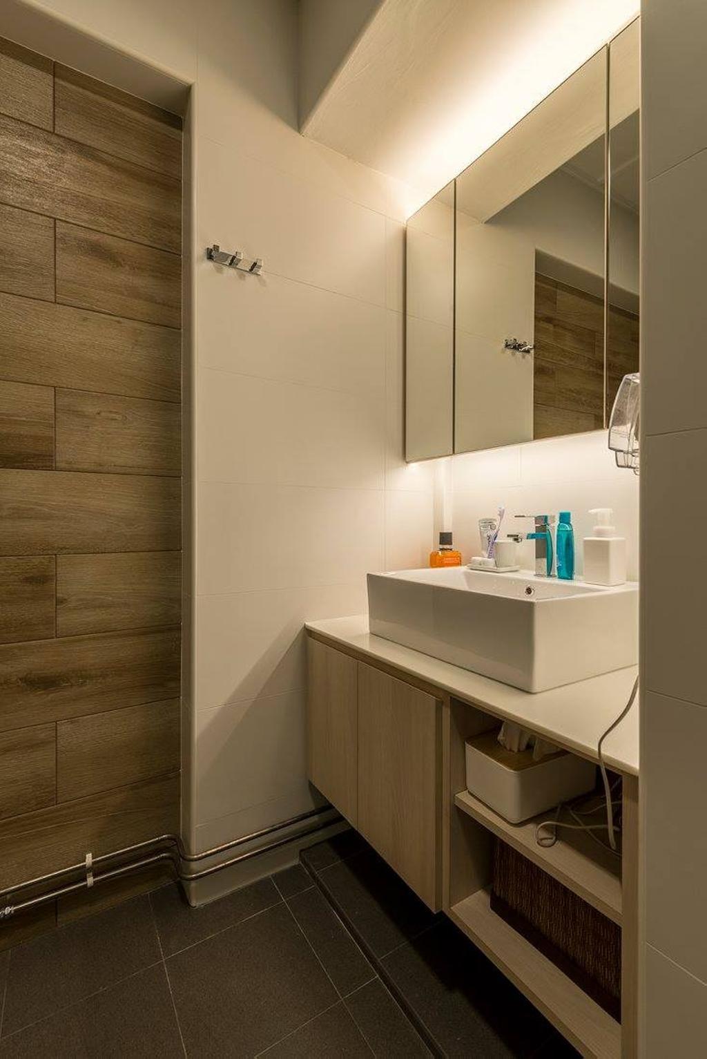 Minimalistic, HDB, Bathroom, Potong Pasir, Interior Designer, Ace Space Design, Contemporary, Modern, Sink, Indoors, Interior Design, Room
