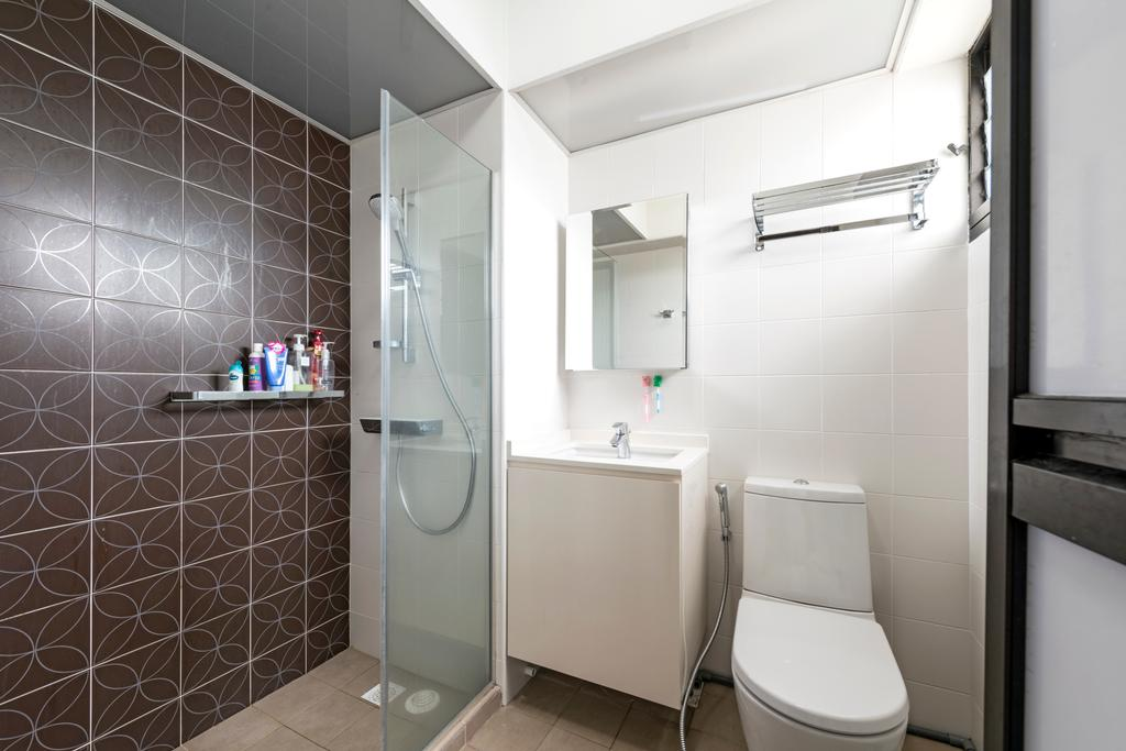 Modern, HDB, Bathroom, Kang Ching Road, Interior Designer, Tan Studio, Indoors, Interior Design, Room, Toilet