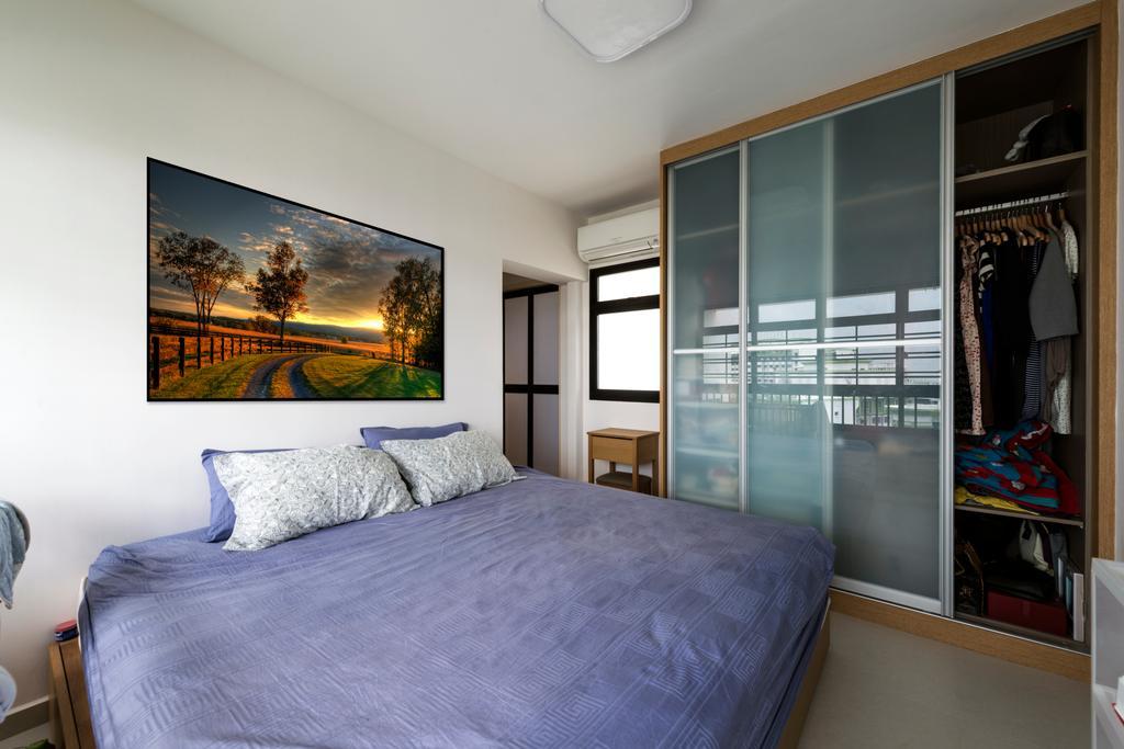 Modern, HDB, Bedroom, Kang Ching Road, Interior Designer, Tan Studio, Collage, Poster, Indoors, Interior Design, Room