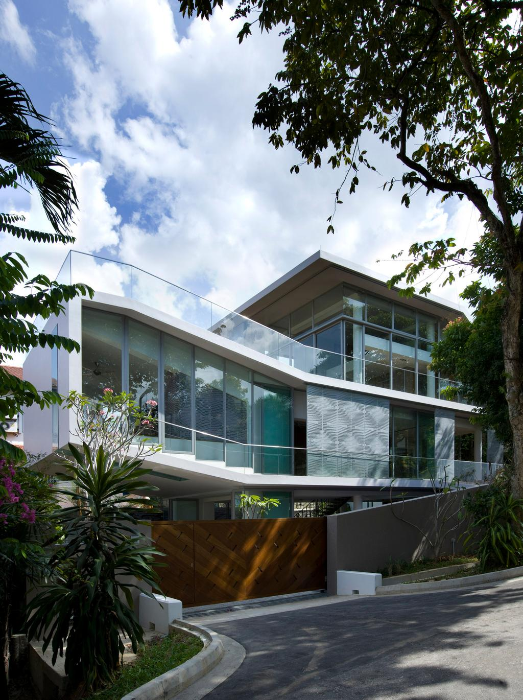 Contemporary, Landed, Ooi House, Architect, Czarl Architects, Exterior, Flora, Jar, Plant, Potted Plant, Pottery, Vase, Building, House, Housing, Villa, Garden, Gardening, Outdoors
