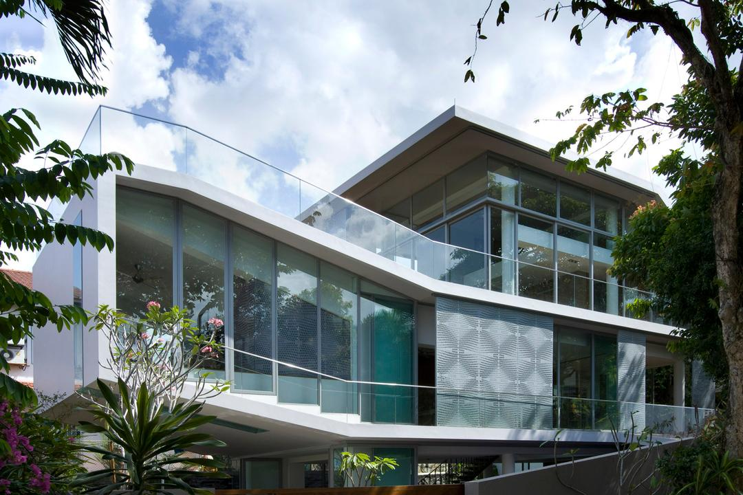 Ooi House, Czarl Architects, Contemporary, Landed, Exterior, Flora, Jar, Plant, Potted Plant, Pottery, Vase, Building, House, Housing, Villa, Garden, Gardening, Outdoors