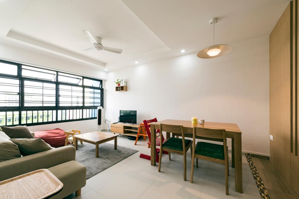 Modern, HDB, Dining Room, Kang Ching Road, Interior Designer, Tan Studio, Building, Hostel, Housing, Chair, Furniture, Dining Table, Table