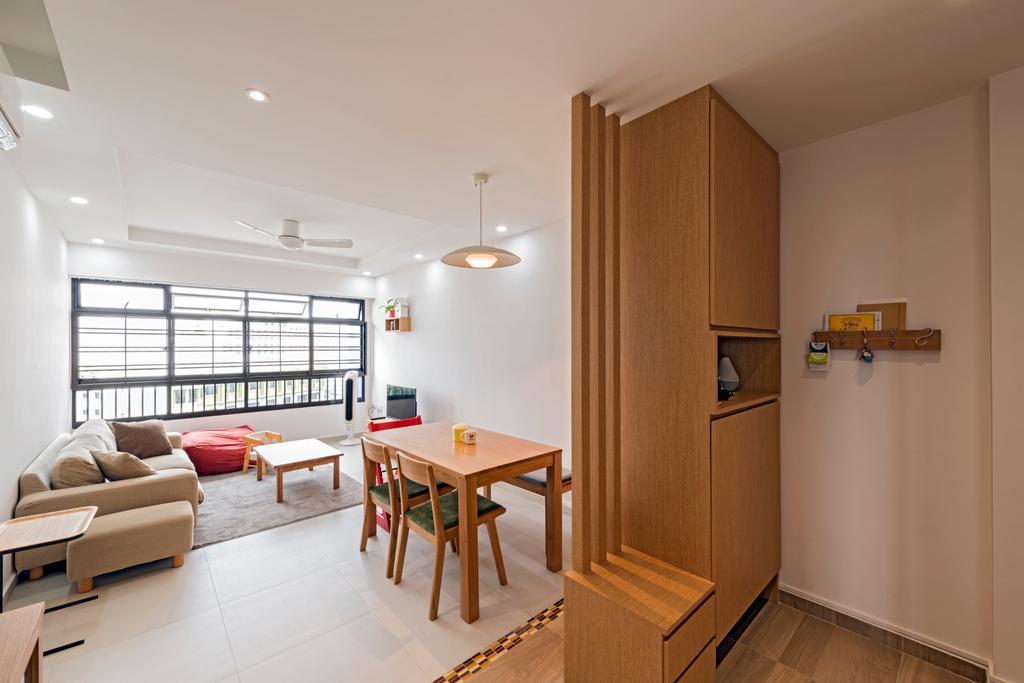 Modern, HDB, Living Room, Kang Ching Road, Interior Designer, Tan Studio, Dining Table, Furniture, Table, Building, Housing, Indoors, Interior Design