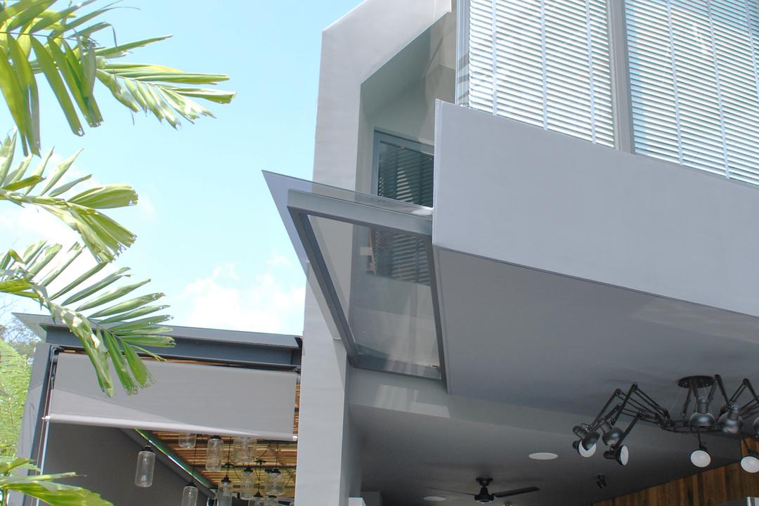 S House, Czarl Architects, Contemporary, Landed, Pointed Edges, Sharp Corner, Flora, Jar, Plant, Potted Plant, Pottery, Vase, Balcony, Building, Housing