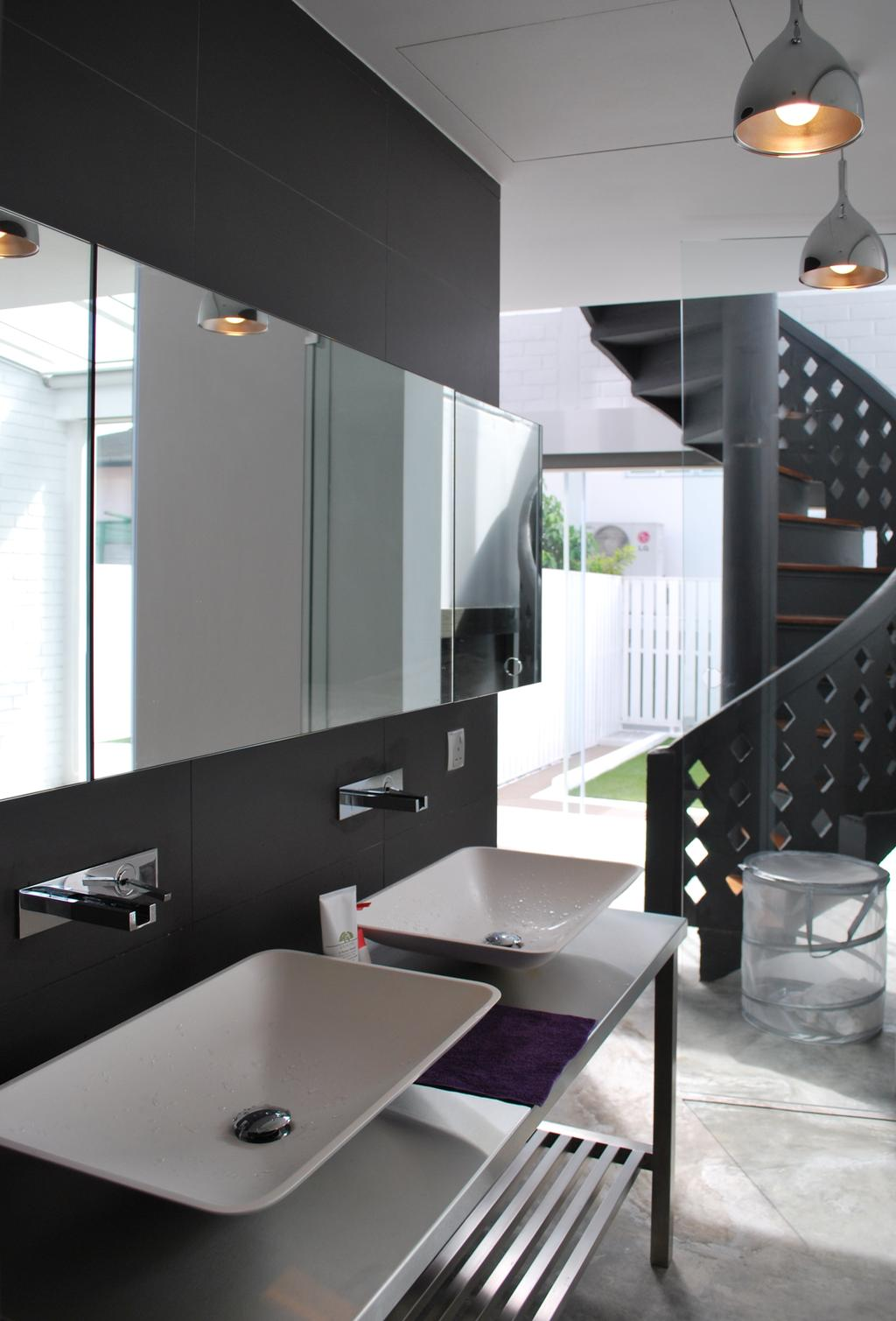 Transitional, Landed, Bathroom, Tagore Avenue, Architect, Czarl Architects, Chair, Furniture